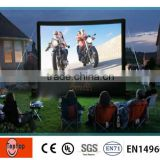 Movable outdoor blow up movie screen , large inflatable TV screen for home entertainment