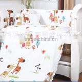 Custom lovely printing baby cot bedding set