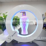 New levitating display stand, magnetic levitating goods display stand, LED lights magnetic display