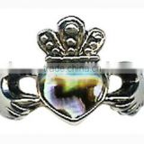 shell imperial crown jewerly Paua Abalone Shell Adjustable Ring Ladies blue/green paua shell ring