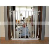 Adjustable White Steel Metal Baby Safety Gate Pet Gate with EN standard approve