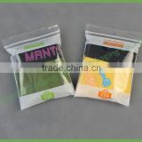 Wholesale Custom Printed Transparent HDPE Zip Lock Plastic Bag for Underwear Clothing                                                                         Quality Choice