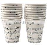 2015 New Style!! Music Note Paper Cups, Eco-friendly Christmas Drinking Tissue Paper Cups