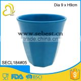 "hot sale 3.5"" melamine blue round shape plastic water cup"