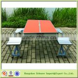 Wholesale MDF top Aluminum legs Folding Dining Picnic Camping Table for outdoor leisure time