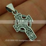 Small Celtic Cross Silver Pendant, pn112