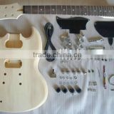 PROJECT ELECTRIC GUITAR BUILDER KIT DIY WITH ALL ACCESSORIES For LEFT HANDED STYLE( K23)