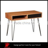 Cheap Home Office Furniture Designs Wooden Study Table with Hairpin Legs
