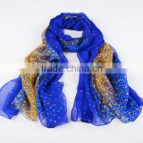 good quality factory direct digital printed Purple silk scarf with oem and odm design on chiffon fabric                                                                                                         Supplier's Choice