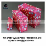 delicate wrapped flower paper storage box for household/exquisite handmade craft gift box