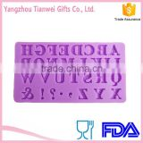 Fashion English letter cake decorating silicone mold Chocalate Sugarcraft Mould Factory Direct Supply
