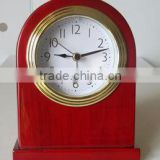 analog wooden hotel clock,eletroplated metal base hotel alarm clock