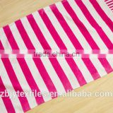 100% Cotton Velour Reactive Printed Beach Towel for Custom Promotional -bath towl printing in rose red stripe