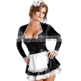 sexy dress sexual body erotic womens faux leather harness adult costumes French maid cosplay halloween costumes for women