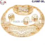 CJ1087-35 gold- silver new coming fine workmanship high quality Jewelry with ring ear ring matching dress on factory costy