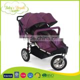 BS-56A 5 point safety belt luxury baby pram stroller china, double baby jogger made in china