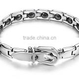MT036 Fashionable jewelry bio magnetc energy bracelet 316L stainless steel bracelet