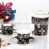 new arrival hot sell royal Saudi Arabia style porcelain tableware coffee cup carrier