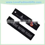 Flight Attendant Crew Embroidered Tag Embroidery Keychain