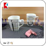 china factory transfer parper printed white square new bone china mug porcelain coffee mug