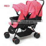 New design double baby pushchairs 2016 wholesale China