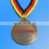 Rio tinto medals with colorful ribbon