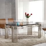 L860 8 Seaters Classic Brown Marble Base Dining Table,Dining Room Table