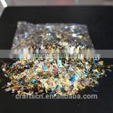 cheap multicolor confetti made of degradable foil