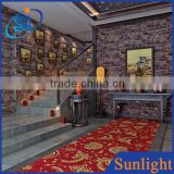 Classic chinese style hotel decor wallpapers vinyl wallpapers brick 3d