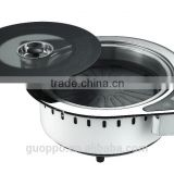 2 in 1 BBQ Korean electric Pan grill steam hot pot and Teppanyaki grill GER-2000UCT