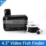 4.3 Inch Camera Night View Underwater Fishing Camera DVR Recorder For 720P/480P LCD Display 20M Cable Fish Finder DVR 20M Cable
