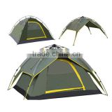 tailor made camping tent, pop up automatic family camping tent, draw string automatic camping tent