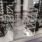high quality 4 layer drawer Transparent Acrylic Cosmetics Lipsticks Makeup Organizer Storage Box,Display Case with 7 space