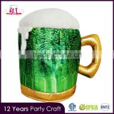 Hot Selling Premium St. Patrick's Day Custom Beer Helmet Drinking Hat Frothy Beer Mug Hat