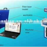 IPG 10W/20W Portable Mental Fiber Laser Marking Machine Price/Good Work Fiber Optic Laser Marker