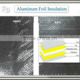 wall reflective heat shield insulation with aluminum foil and bubble