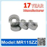 MR115 ZZ RS Miniature Ball Bearing Deep Groove Ball Bearing