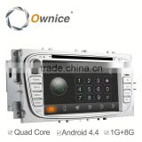 Ownice C180 Android 4.4 up to android 5.1 car navigation system for Ford Focus built in Bluetooth wifi