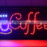 Open Bar Coffee Display Flashing LED Sign Neon Light Bar Pub Cafe shop Decor