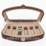 personalized gift box for watch/leather box of watch/hot sell leather watch box with luxury style and good quality
