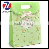2015 New Arrived wholesale craft unique with ribbon customized printed paper elegant bag