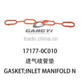 latest best selling exhaust manifold gasket 17177-0C010 of toyota hilux diesel pickup 4*4