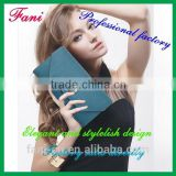 Elegant and stylish with snap fastener&zipper design clutch leather wallet for women