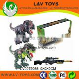 gun remote control dinosaur toys with light&sounds