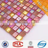 red iridescent broken china mosaic mosaic stone silver mirror mosaic vases