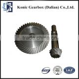 Customized automatic industrial bevel gear assembly for equipment parts at reasonable price