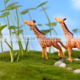 small Colorful cute charm Mininature Terrarium resin deer glass animal nuts and bolts taekwondo figurines