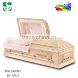 hot sale American pink cinerary glass casket