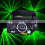 portable single green laser beam effect light