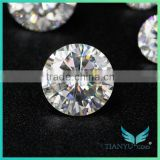 moissanite calibrated stones synthetic white rvd cvd for making jewellery grown diamond moissanite
